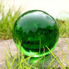 Magic Green Crystal Glass Ball Top Quality Quartz Gemstone Healing Stone 40MM