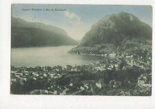 Lugano Paradiso & Mte S Salvatore 1913 Switzerland Vintage Postcard 187a