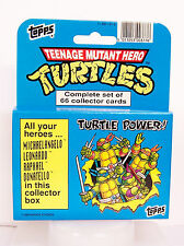 1990 Topps TMNT TMHT Cartoon Collector Trading Cards Box Set Ninja Hero Turtles