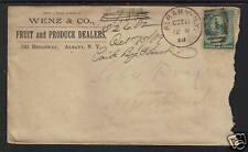 1889 WENZ & CO FRUIT PRODUCE DEALER ADVERTISING COVER