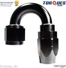 AN -6 ( AN6 ) 180 DEGREE Swivel Seal BLACK Hose Fitting