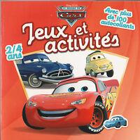 JEUX ET ACTIVITES CARS DISNEY STICKERS  coloriage