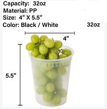 32 Oz Plastic Deli Food Storage & Soup Containers With Lids-Restaurant (50 sets)