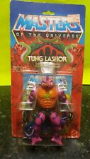 VINTAGE MOTU TUNG LASHOR ON CARD 1985 COMPLETE UNOPENED MASTERS OF THE UNIVERSE