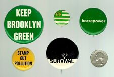 ECOLOGY / ENVIRONMENT - Five (5) Buttons - early '70s