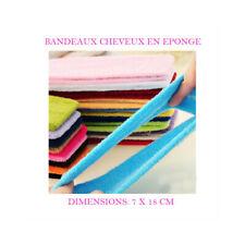 BANDEAU CHEVEUX EPONGE ELASTIQUE MAQUILLAGE ESTHETIQUE VISAGE COIFFURE CHE800