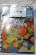 David and Goliath Book and tape Childrens book, Never Opened Cassette and book!!