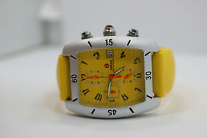 Women's Vintage Michele 71-195-A Yellow Jelly Chronograph Watch New Battery
