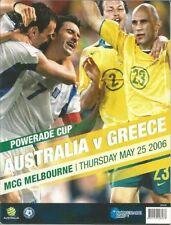Australia Soccer Memorabilia Programmes