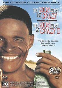 The Gods Must Be Crazy  DVD 1 + 2 1980s & 1989 - REGION 4 AUST