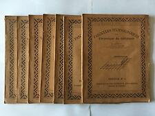 LOT 8 FASCICULES TECHNOLOGIQUES CERAMIQUE BATIMENT 1924 AUPETIT ILLUSTRE