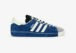 Adidas Originals x RECOUTURE Campus 80s Mens Suede Trainers in Blue and Red
