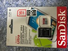 New SanDisk Class 10 Ultra 16GB 98MB/s Micro SD SDHC Memory Card UHS-I with adap