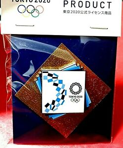 """^^OFFICIAL """"LOOK OF THE GAMES"""" TOKYO 2020 / 2021 JAPAN OLYMPIC GAMES PIN ON CARD"""