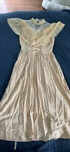 Vintage Victorian Style Dress Anntique Size Small, Extra Small
