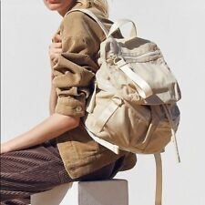 Urban Outfitters Classic beige army Backpack fits lap top lots of pockets NWT