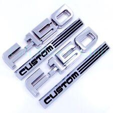 87 88 89 90 91 Ford F-150 Custom 2pc Fender Emblem Nameplate Badge Side F150