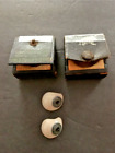 Two Antique Prosthetic Pre Wwii Glass Eyeball Medical Human By Fried & Kohler