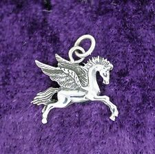 925 solid Sterling Silver little Pegasus pendant