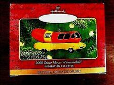 2000 Oscar Mayer Wienermobile -Hallmark Keepsake Ornaments-Music-Handcrafted-NIB