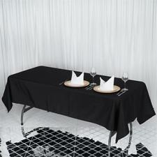 """1 pc 60x102"""" Black PREMIUM RECTANGLE Polyester TABLECLOTH Catering Linens SALE"""