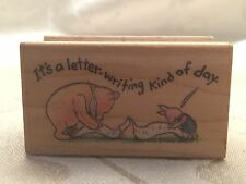 Winnie The Pooh And Piglet Rubber Stamp It's A Letter Writing Kind Of Day 720d