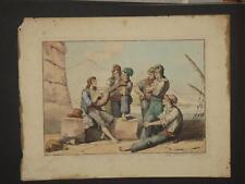 Scènes De Musiciens, Rome, Eau-forte Datée 1815.