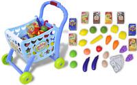3 IN 1 Compras Carrito Cart & Falso Juego Comida Supermercado Papel Juguete 903A