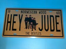 HEY JUDE  Metal Car Decorative License Plate United States Home Decor Sign