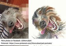 COMMISSION portrait painting your pet, Size A5