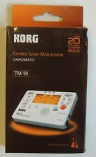 Korg TM-50 Combo Instrument Tuner and Metronome  New In Box White