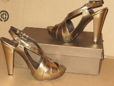 PAOLO WOMAN SHOES GOLD Leather SIZE 8 1/2 M PUMPS PLATFORMS EXCELLENT CONDITION