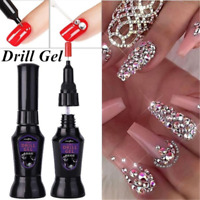 10ML DIY Nail Art Rhinestones Gel Glue UV Adhesive Sticky Gems Diamond Decor JP