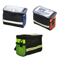 Bike Bicycle Cycling Outdoor Front Basket Pannier Frame Tube Handlebar Bag UP