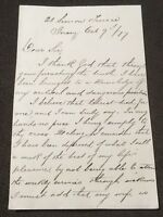 5th Original Letter From 21 Simon Terrence, St Helier, Jersey 9th October 1877.