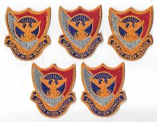 LOT OF 5 FULL COLOR GRADY HIGH SCHOOL R.O.T.C.  PATCH(M/P 3252)