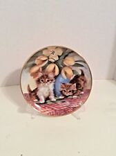 Franklin Mint Heirloom Limited Edition Plate #La3022 Tabbies & Tulips BrianWalsh