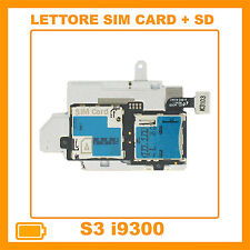 MODULO LETTORE SLOT SIM MEMORY CARD SAMSUNG GALAXY S3 III i9300 FLEX