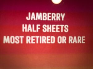 Jamberry HALF SHEETS, YOUR CHOICE,  MOSTLY RETIRED & RARE (2)