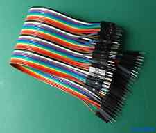 40x Cable 1 Pin Dupont 20cm Macho Macho - MALE TO MALE WIRE ARDUINO PROTOBOARD