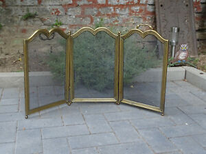 Stylish Funkenschutzgitter Fireplace Guard Fireguard Brass France