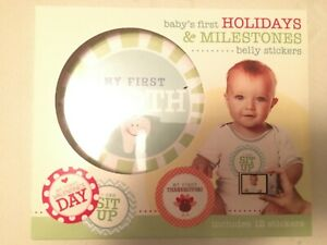 Stepping Stones Baby's First Holiday & Milestone Belly Stickers new