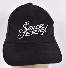 Black Sailor Jerry Rum Logo Co Embroidered Trucker hat cap Adjustable Snapback