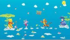 Winnie The Pooh Fishing Wall Decal Sticker Mural Childs Bedroom Nursery Playroom