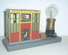 Spielzeug Transformator Eisenbahn Trafo JEP Unis France Blechspielzeug um 1920