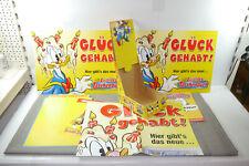 LUSTIGES TASCHENBUCH Donald Duck div. Werbeartikel Poster Übersiccht Schilder F3