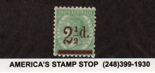 1891 South Australia SC 94 MH Mint - 2 1/2p on 4p Green*