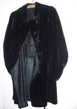 Schwarze Samtjacke um 1900 vintage fashion gothic look !