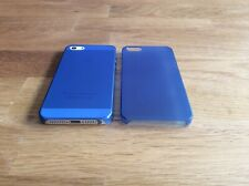 Apple iPhone 5 5S SE Ultra Slim matte Handyhülle 0,2mm Smartphone 1 Cover d-blau