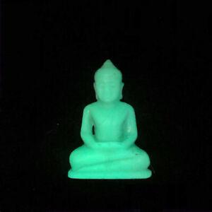 Buddha Statue Glow in the dark Luminous Stone Carved Worship Buddhist Amulet